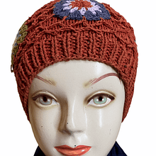 Flower Knotted Handwoven Cap