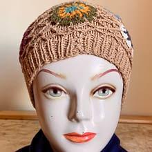 Handwoven Cap | Cream Brown