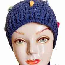 Handwoven Cap | Navy Blue