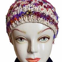 Rainbow Handwoven Cap