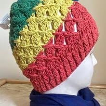 Tricolour Handwoven Cap