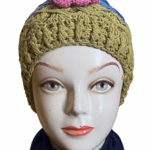 Handwoven Cap In Tricolour