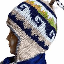 Handwoven Yak Wool Cap | Flaxseed inside