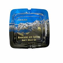 Ashtray | Ladakh Mountain astray | Glass Transparent