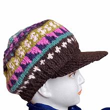Woolen Sun Shade  Cap | Flaxseed inside | Handwoven
