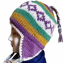 Yak Wool Cap | Flaxseed | Handwoven