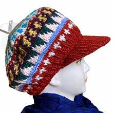 Woolen Sun Shade  Cap  | Handwoven | Flaxseed inside